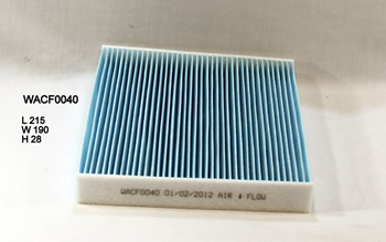 WESFIL CABIN FILTER FOR Toyota Rukus 2.4L 2010-on WACF0040